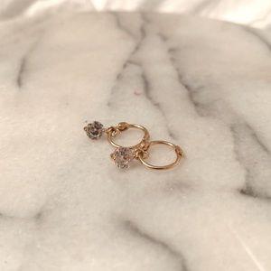 Baublebar crystal huggie hoop earring
